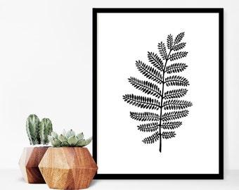 "Fern, Art Print, Botanical Print, Home Decor, Nature Art, Leaf Print, Fern Art Print, Wall Decor, Botanical Art, Nature Print, 9"" x 12"""