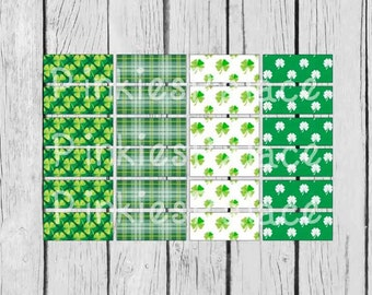 24 Planner Stickers Washi St. Patrick's Day Planner Stickers March Planner Stickers PS369g