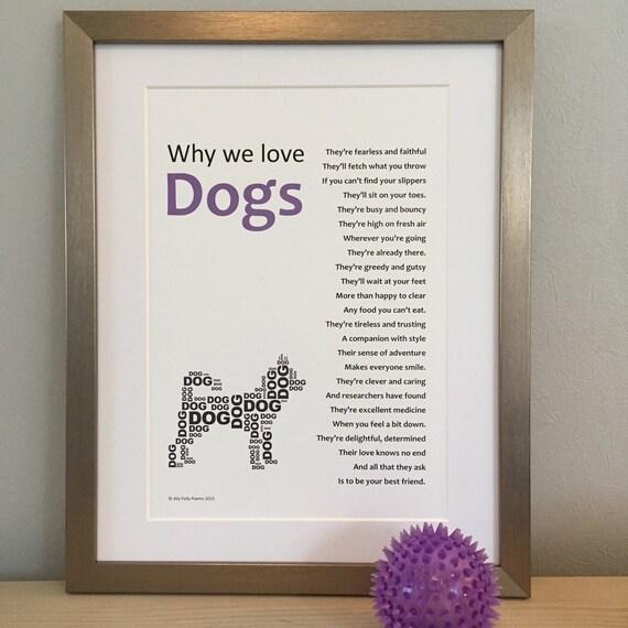 Framed Poem For A Dog Lover Ideal Animal Lover S Gift