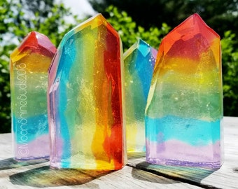 Rainbow Crystal Soaps - Mystic Crystal - Chakra Crystal