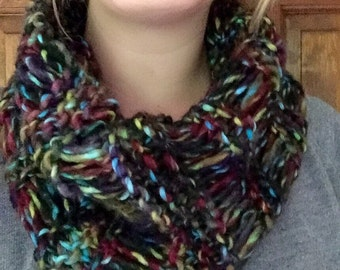 Country Sunset Dropstitch Cowl