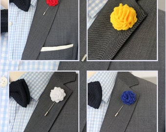 Carnation Men's Wool Felt Lapel Flower, boutonniere, felt carntaion lapel flower, lapel boutonniere, mens lapel pin, mens lapel flower
