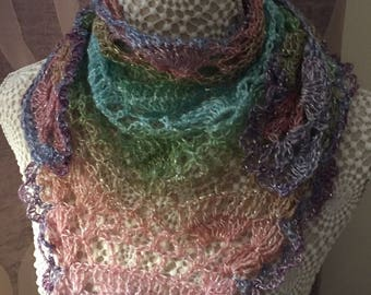 Beautiful fine sparkly small shawl style scarf.