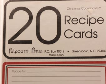 "NEW!!!! Vintage 6 Packages of 20 3""X5"" Recipe Cards by Potpourri Press. Sealed"