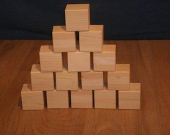 """26 wooden blocks 2"""" unfinished-toy blocks-alphabet blocks-baby blocks-wood blocks-baby shower activities-craft blocks- wooden blocks"""