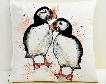 Puffin Cushion Cover