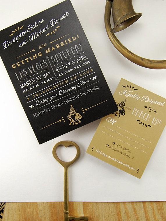 The Speakeasy Great Gatsby Inspired Vintage Invitations