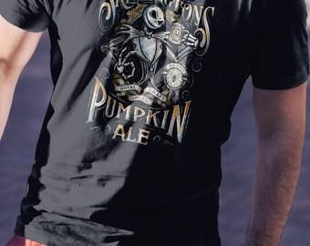 T Shirt of Jack Parody Pumpkin Ale Beer Label design art clothing design for Men and Women by Kolabs Studios