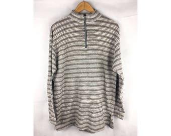 GUESS Club Sport Urbantribe Long Sleeve Sweatshirt Knotwear Neck Zipper Extra large Size