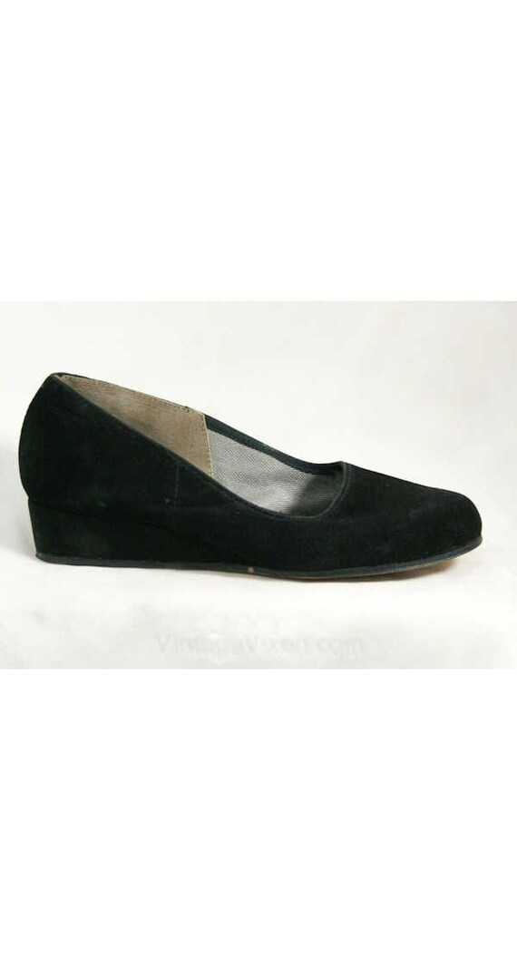 Toe 40s Casual 1940s 5 Platforms Black Suede Shoes Charming Round Classic Deadstock 5M Size Size 2 Shoes 40321 Soxer Bobby 40's xSOwBqB