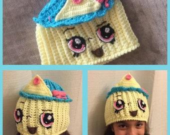 Queen Cupcake Shopkins Crochet  Hat PATTERN