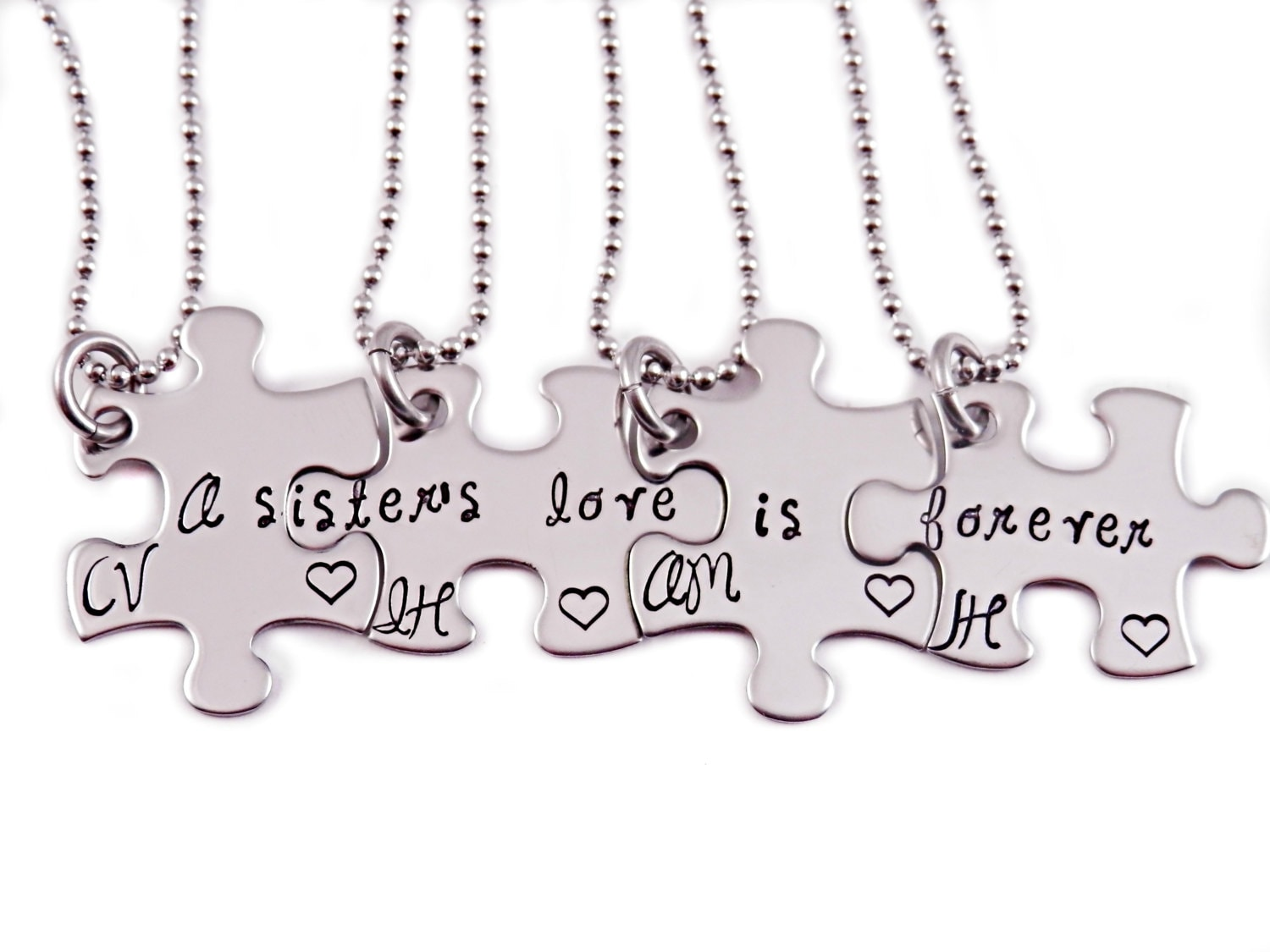 Personalized A Sister\'s Love Is Forever Puzzle Piece