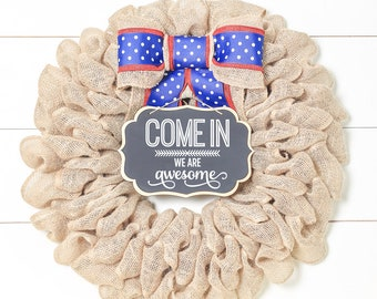 Memorial Day Decorations Patriotic Wreath Summer Wreaths for Front Door Mothers Days Gift Farmhouse Wreaths for New Home