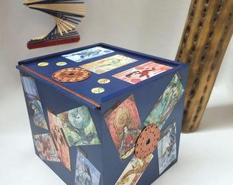 Manga Box, Tarot Box, Asian Tarot, Tarot Card Box, Oracle Box, Puzzle Box, Wood Box, Lucky Box, Manga Art, Feng Shui, Manga Tarot, Slide Top