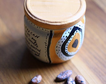 African Pot Scented Soy Candle - Candela di Soia Profumata Design Africano