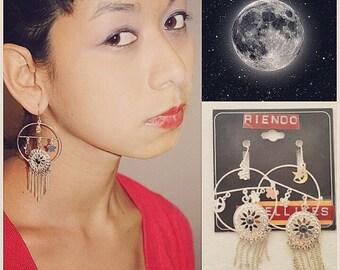 self design satellite earrings