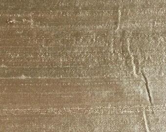"""WICKER 2067-1E  - Pure Silk Dupioni Fabric - Handwoven - 54"""" Wide"""