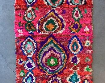 MOROCCAN BOUCHEROUITE RUG - Vintage Handmade Carpet