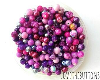 100pcs Glass Beads 8mm, Beads, Beading, Colored Beads, Bracelet Beads, Jewelry Beads, Super Cheap Beads