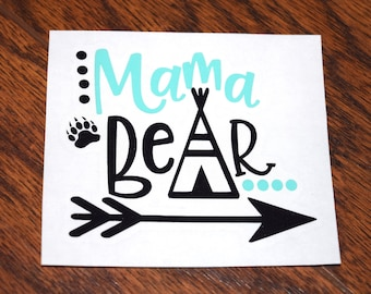 Mama Bear Decal, Car Decals for Women, Tumbler Decal, Family Car Decal, Mama Bear Car Decal, Mom Decal, Mama Bear Sticker, Mama Bear Tumbler