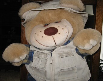 Trapper Plush Bear from the 1980's -  Woodsman