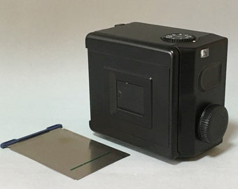 Mamiya 645 film back w/ 120 insert for 645 pro tl super w/ cap (e1199)