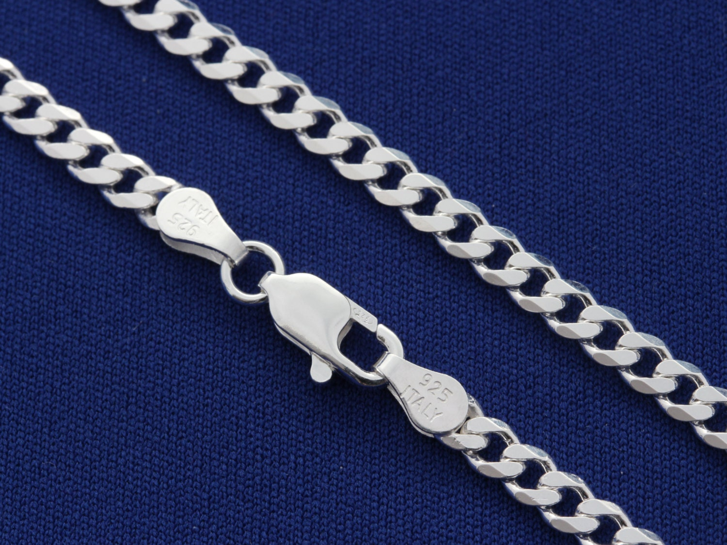 Sterling silver curb chain mens chain thick chain width zoom aloadofball Image collections