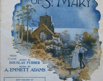 Vintage Sheet Music The Bells Of Saint Mary