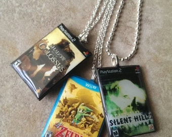 Custom Video game case necklace - Xbox, PlayStation, Nintendo
