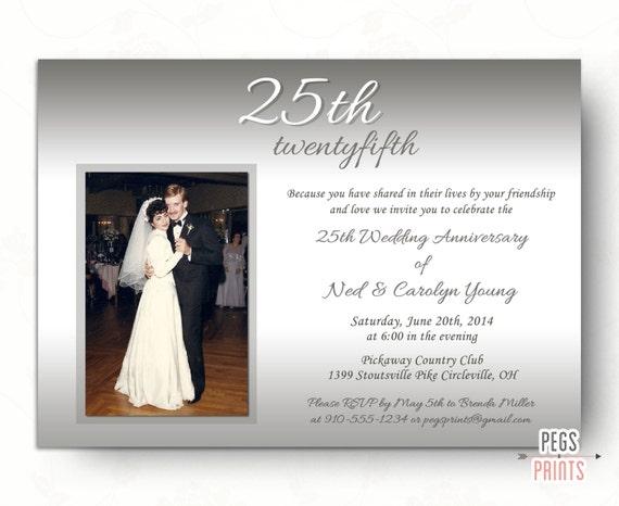 25th wedding anniversary invitations silver wedding solutioingenieria Gallery