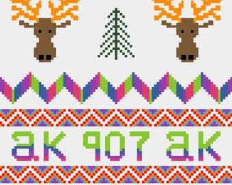 Alaska Cross Stitch Sampler