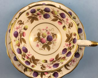 Royal Stafford Golden Bramble Tea Cup and Saucer