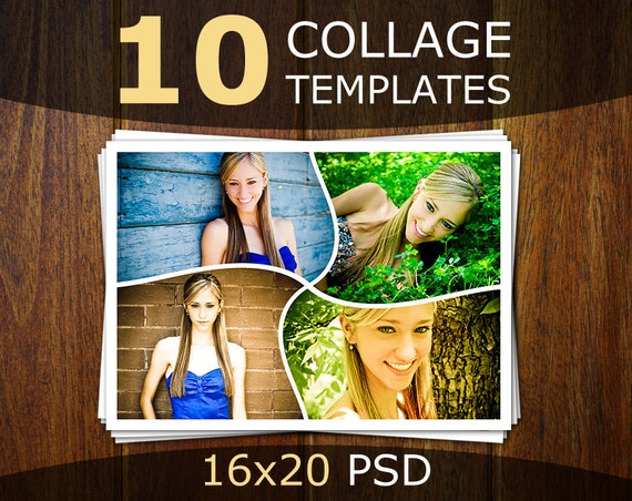 Photo Collage Postcard Template Kleobeachfixco - Photography postcard template