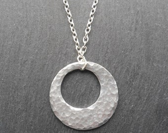 Big Boned Offset Circle Hammered Aluminium Disc Eye Glass/Sunglasses Necklace Chain Holder Lanyard Retainer CWtChUS