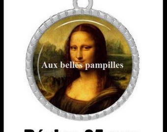 Pendant Cabochon - Mona Lisa - (83)