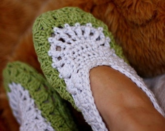 Crochet PATTERN - Sorrento Ladies Home Slippers