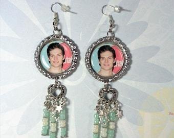 """50% OFF SALE Daniel Sharman Earrings """"Ultimate Fan"""" Style w/ Heart Charms & Beads"""