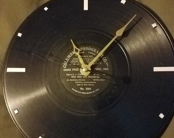 Clock made from 1901 phonograph record