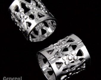 9mm Silver Filigree Tube Bead #MBB062
