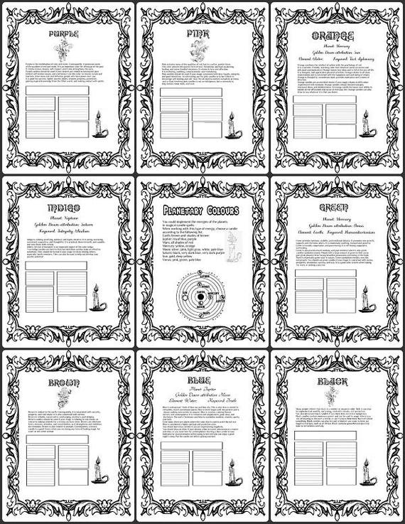 Book Cover Printable Zodiac : Astrology printable coloring book of shadows pages