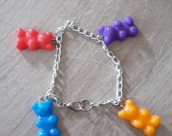 Bracelet sweet fimo girl bear