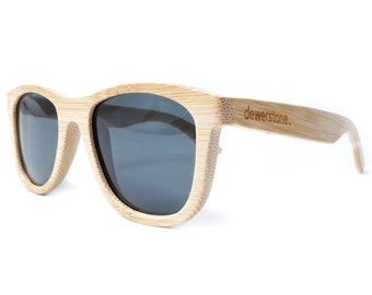 dewerstone - Cirros Bamboo Sunglasses Polarized - Natural Wood