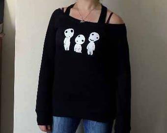 Kodama Studio Ghibli Princess Mononoke womens sweatshirt