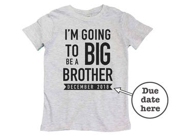 i'm going to be a big brother, big brother announcement shirt, personalized big brother t shirt, only child expire shirt, big brother gift