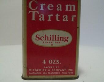 Vintage Shilling Cream of Tartar Tin