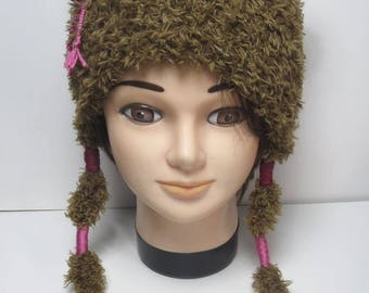 Hat(Cap) hand-knitted child