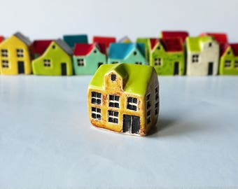Handmade Ceramic Yellow House