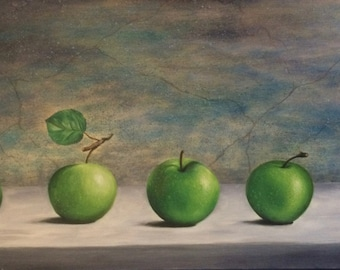 """""""Five"""" nature still life oil painting """"Bread"""", oil painting, landscape Art painting, canvas, Art, Wall Art, Modern Art, oil on canvas"""
