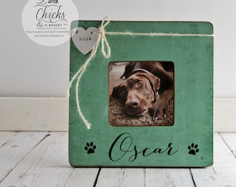 Personalized Pet Picture Frame, Pet Name Frame, Pet Lover Gift Idea, Dog Memory Frame, Cat Memory Picture Frame