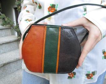 Crossbody Bag / Small Leather Shoulder Bag / Mini Crossbody Purse / Hippie Bag / Handmade Crossbody Bag / Hipster Bag / Retro Bag / Boho Bag